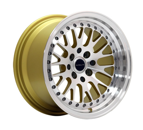 ULTRALITE UL10  15x9 - ET10 - 4x100+114.3 PCD -  GOLD MACHINED FACE / UL10-1590-1GLMF