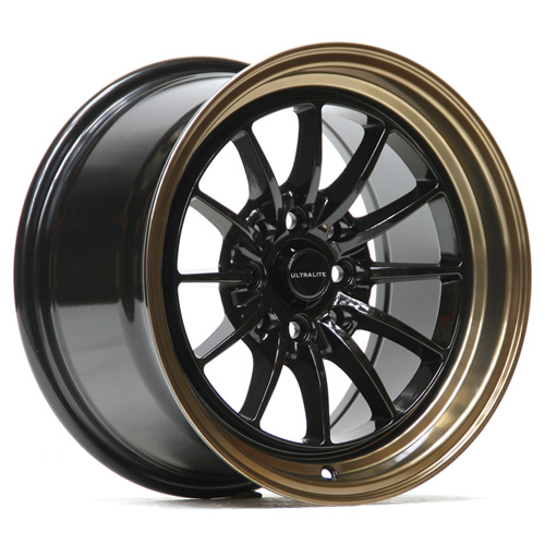 UL12-1582-2BB / ULTRALITE UL12 - 15 x 8.25 INCH - ET20 - 100+108x4 PCD - BLACK + BRONZE COPPER