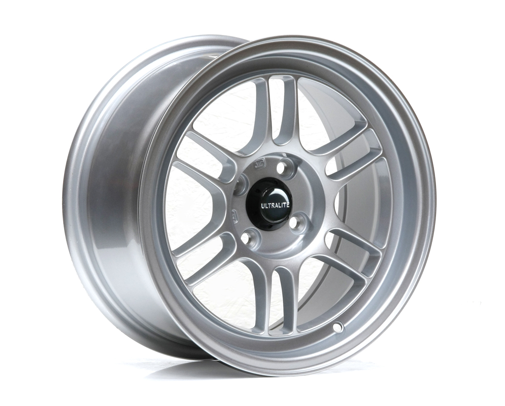 ULTRALITE F1 - 15 x 7.5 INCH - ET30 - 100 x 4 PCD - GLOSS SILVER / ULF1-1575-1GS