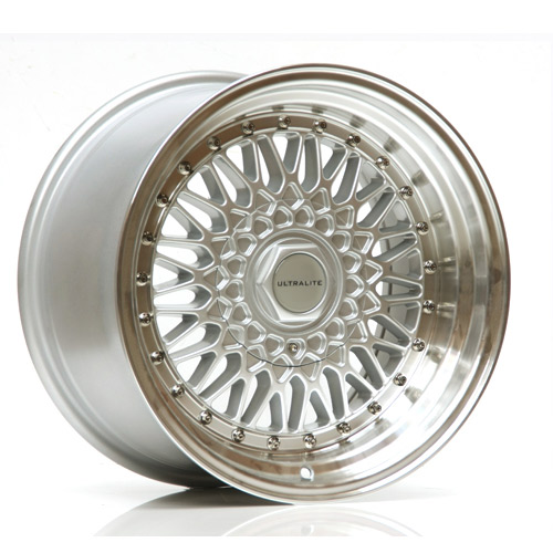 ULRS-1680-1SMLS / ULTRALITE RS 16x8 - ET25 - 4x100+108 PCD - SILER POLISHED RIM SILVER RIVET